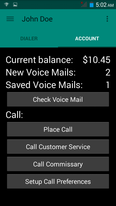 Sample Phone App Screen